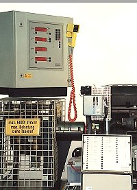 Demonstration engine with model-specific error switchboard at engine test bed